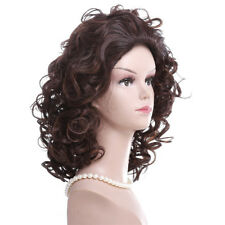 Fashion Women Curly Wavy Orange Hair Cosplay Party Long Wig Costume Wigs New J