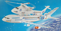 Large Helicopter/Aeroplane Flashing Lights & Music Bump N Go Ideal Kids Toy