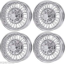 NEW SET OF 4 JAGUAR XJ6 XJ12 XJS AND XJ40 CHROME WIRE WHEELS 6.5J x 15 70 SPOKES