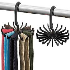 Space Saving Tie Rack - (2 Pack) Hanging Bow Tie Hanger with 20 Hooks Tie Holder