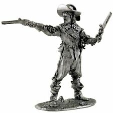 France. Royal Musketeer with pistols. Tin toy soldier miniature metal figurine