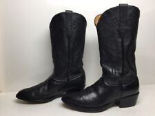 #I MENS PALOMINO COWBOY LEATHER BLACK BOOTS SIZE 9.5 EE