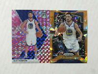 KLAY THOMPSON LOT OF 2 2019-20 Prizm ORANGE CRACKED ICE SP #209 + Mosaic PINK!