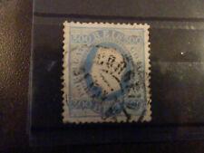 timbre PORTUGAL n° 49 oblitéré de 1870-80 dentelé 12-1/2