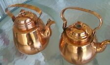 New listing 2 Copper Kettles 1 Helsinki V.W. Holmberg & Mid Century Scandinavian Unmarked
