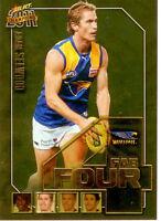 2011 Select AFL Champions Fab Four Gold Card FFG62 Adam Selwood (West Coast)