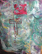 ABSTRACT RELIGIOUS OIL PAINTING