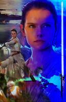 "Rey The Force Awakens  ""A Jedi's Destiny""  11 x 17 High Quality Poster"