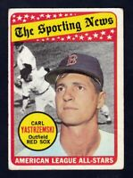 1969 Topps #425 Carl Yastrzemski Sporting News All Star / Red Sox / VG-EX cond