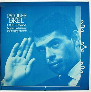 JACQUES BREL If You Go Away LP 1967  CHANSON VG++ NM