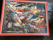 MB 1500 Piece Jigsaw Puzzle  'Transport' - Done Once, Excellent Condition