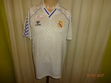 """Real madrid original Hummel hogar camiseta 1986-1989 """"sin patrocinadores"""" talla L"""