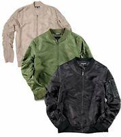 Elwood Nylon Bomber Zip Jacket Mens