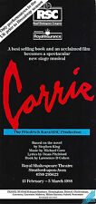 """Barbara Cook """"CARRIE"""" Linzi Hateley / Stephen King 1988 FLOP London Tryout Flyer"""