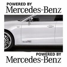 2x Powered by Mercedes-Benz 20x4cm Aufkleber Car Window Bumper Sticker Vinil 218
