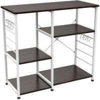 Microwave Cart With Kitchen Storage Bakers Rack Utility Stand Shelf 3-Tier Work