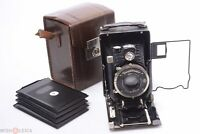 ✅ VOIGTLANDER AVUS 6.5x9CM CUT SHEET FILM CAMERA 105MM 4.5 SKOPAR LENS