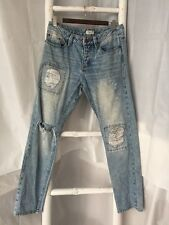 •Elwood• Distressed Blue Relaxed Slouchy Boyfriend Jeans Sz 26