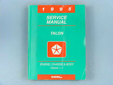 Service Manual, 1995 Eagle Talon, Volume 1, Engine/Chassis/Body, 81-270-5500