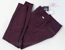 montar® Damenreithose Fay Silikon Vollbesatz Plum Violett Weinrot Gr. 34/36