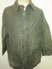 """Barbour A200 Border Waxed jacket - M 40"""" Euro 50 in Sage Green"""