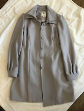 Elevenses Size 4 Spartan Pea Coat Jacket Gray Anthropologie Wool
