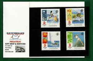 Seychelles stamps 2008 MNH set with Cover of Seychelles Philatelic Bureau Olympi