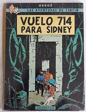 TINTIN VOL 714 POUR SYDNEY JUVENTUD 1ÈRE ÉDITION ESPAGNOLE 1969 DOS TOILÉ COMIC