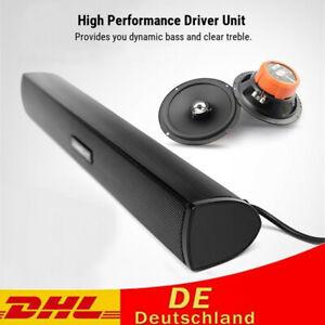 Mini USB Lautsprecher Laptop Subwoofer Stereo Soundbar Loudspeaker For PC DHL
