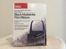 LOT OF 6 NEC 50-010 BLACK MULTISTRIKE RIBBON FOR SPINWRITER 5500 / 7700 PRINTER