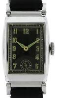 Anker ungetragene Vintage Armbanduhr Handaufzug 1930er frisch revisioniert