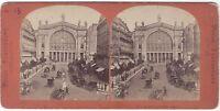 París Estación Del Norte Francia Estéreo Vintage Albúmina Aprox 1865
