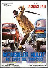 MONSIEUR HULOT NEL CAOS DEL TRAFFICO MANIFESTO FILM JACQUES TATI 1971 POSTER 4F