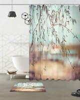 Poplar Willow Waterproof Bathroom Polyester Shower Curtain Liner Water Resistant