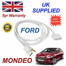 Ford Mondeo 1529487 3gs 4 4s Iphone Ipod Usb & Aux Cable Blanco