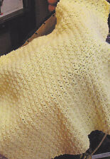 Crochet Pattern ~ CUDDLY BABY BLANKET Afghan ~ Instructions