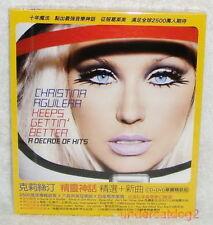 Christina Aguilera Keeps Gettin' Better Taiwan Ltd CD+DVD w/BOX