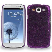 Coque petites paillettes blinbling Violet pour Samsung Galaxy SIII / S3