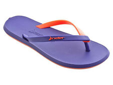 NEW! AUTHENTIC RIDER WOMEN'S SLIPPER THONG SANDALS (VIOLET/RED, SIZE #5)