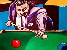 THE HUSTLER PRINT poster jackie gleason minnesota fats pool table cue stick dvd