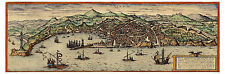 Genoa Liguria Italy bird's-eye view map Braun Hogenberg ca.1572