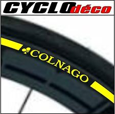 RIM BORDO VELO adesivi autocollanti COLNAGO CINTAS CERCHIONE STRIPES 40 COLORS