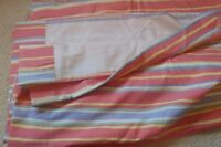 "VTG Pair LAURA ASHLEY Striped curtains each approx 61""W x 50""L"