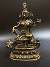 Chinese Old copper Tibetan Buddhism Dragon turtle Buddha statue Town House Evil