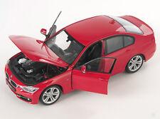Spedizione LAMPO BMW 335 i 2012 ROSSO/RED 1:24 Welly Modello Auto Nuovo & OVP