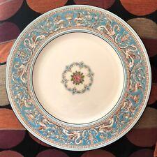 Lovely Set of 6 Wedgwood Florentine Turquoise Fruit Center Dinner Plates