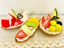 Sweets Ornament SET Hand Made Handicraft Original Felt Cakes Cute #2 Japan