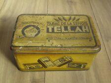 """Ancienne boite Tabac de la Semois """"Tellah"""" 1921"""