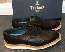 Men's - Tricker's - Durham - Brown Derby Brogue Shoes - UK 10