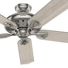 Hunter Fan 50 pulgadas Casual níquel cepillado Ventilador de techo de interior con Control Remoto